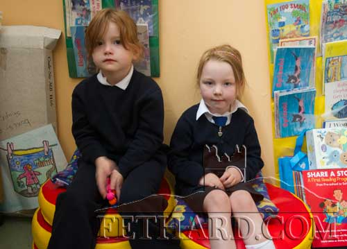 Starting school at Fethard Holy Trinity National School were L to R: Josie Reilly and Milly Ryan