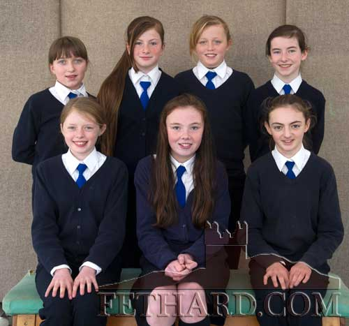 Holy Trinity National School girls' Spikeball team Back L to R: Rachel Loughnane, Nell Spillane, Annica O'Connor, Aine Ryan. Jennifer Phelan, Megan Ryan and Alison Connolly. Missing from photo are Molly Curran and Kaylin O'Donnell.