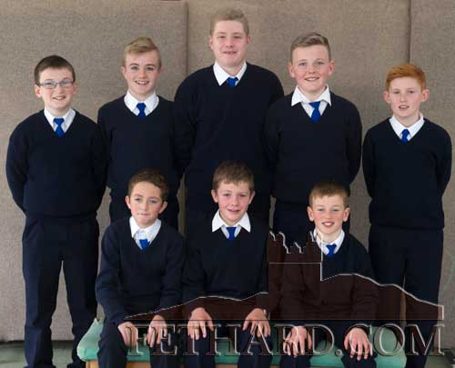 Holy Trinity National School boys' Spikeball team who have progressed to the Regional Finals which are due to be held in Cork in March Back L to R: Ciarán Moloney, Ryan Walsh, Ethan Coen, Matthew Burke, Cathal O'Mahoney. Front L to R: Michael Conway, Shane Neville and Miceál Quinlan.