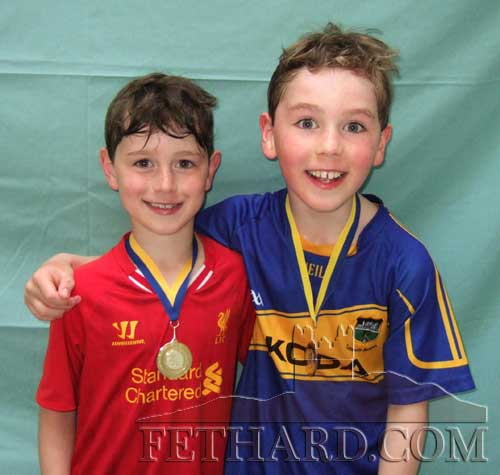 William and Patrick Colville, Railstown, Fethard, winners of gold and silver medals at the Community Games Swimming finals.