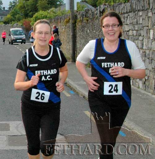 Taking part in the Walls of Fethard 6K are Fethard AC members L to R: Gwen Cooke and Elaine Daly.