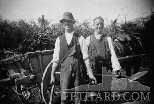 We would like information of who is in this photograph taken of workmen in Fethard some years ago ? Please send to info@fethard.com