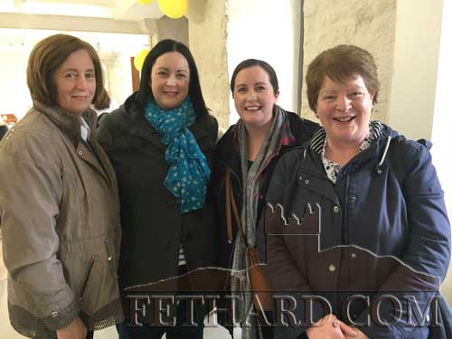 Photographed at the Coffee Morning in Fethard Town Hall in aid of the Irish Cancer Society are L to R: Mary Hyland, Zita, Gillian and Josephine Gubbins.