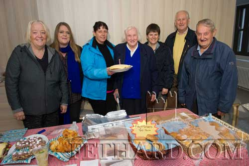 Kitty O'Sullivan, a long-time customer and supporter of Fethard Country Markets, was treated to a little surprise on Friday morning last when she arrived at the market to do her weekly shopping. The word got out that Kitty was celebrating her 90th birthday that day and the staff members got together and made a small presentation of a freshly baked cake to mark the occasion. L to R: Marie McDonnald, Dawn Browne, Mary Mullins, Kitty O'Sullivan, Pamela O'Donnell, David Curran and Christy Williams.