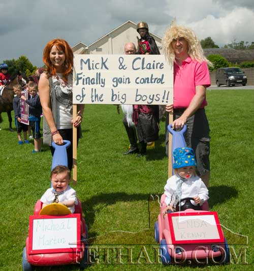 'Mick and Claire finally Gain Control of the Big Boys' . . . Fethard Fancy Dress Parade 2016