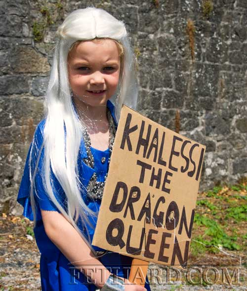 Khalessi The Dragon Queen at the Fethard Festival Fancy Dress Parade