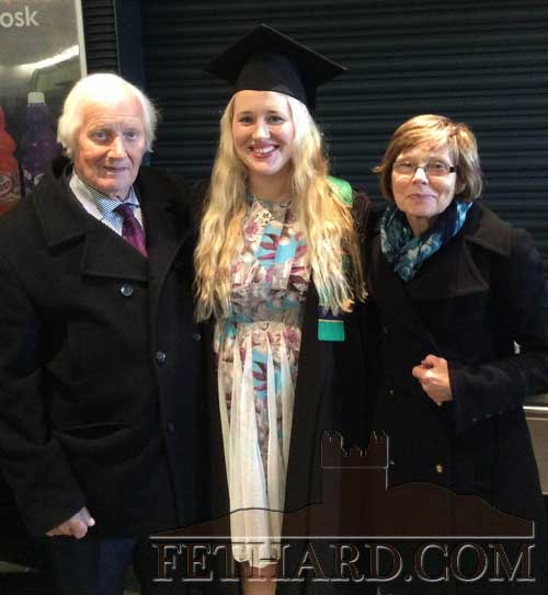 Lucy Sheehan, Killusty, photographed with her parents, Ann and Dan Sheehan,at her recent graduation from DCU with a Higher Diploma in Children's Nursing.
