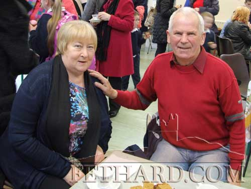 Joan and Billy O'Donoghue, Clonmel, photographed at the Grandparents' Day at Holy Trinity National School, Fethard.