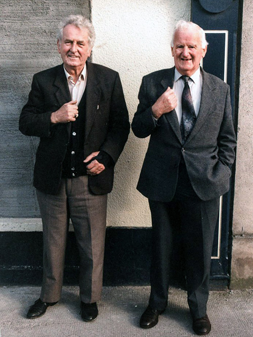 Larry Kenny posted this photograph of the late Sean Hanrahan and his good friend Mick Hogan, Burke Street. This photograph generated the following replies: