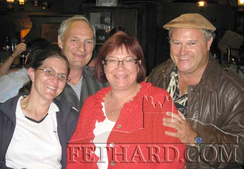 Photographed at the Pheasant Plucker's session in McCarthy's bar in June 2009 are L to R: Amanda Hardiman, Frankie Napier, Kate Goings and Mike Colgan. Kate and Mike were visiting Fethard from the United States of America.