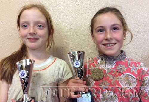 Fiona Barry and Tara Moquet, Fethard, runners up winners in the Credit Union Singing Competition for under 10 and under 8. Well done to both girls.