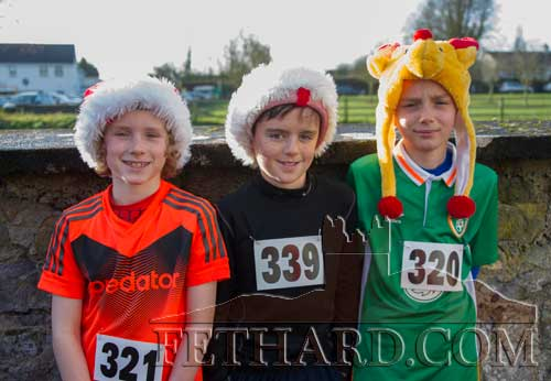 Taking part in the Fethard 'Santa Run' were L to R: Noah O'Flynn, Danny Hayes and Joseph O'Flynn.