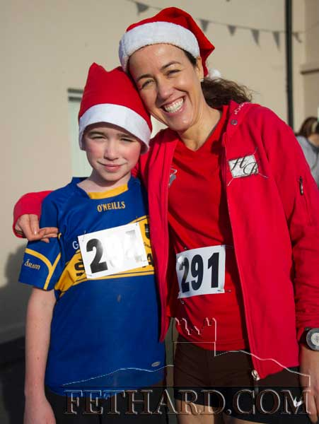 Taking part in the Fethard 'Santa Run' were L to R: Peter Carmody and Siobhán McHugh