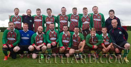 Mullinahone FC, winners of the Peter O'Reilly Cup, following their 3-1 win over Killusty in the final played at Newhill Park