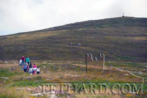 The Fethard & Killusty annual parish pilgrimage to Holy Year Cross on Slievenamon will take place on Sunday, August 13, with the starting time of 12.45pm from the Hill Wall. As the walk from the designated car park in O'Donnell's field to the Hill Wall will take about twenty minutes, we ask you to keep this in mind when you are planning your walk to the starting point, which will commence as close to time as possible. For those unable to make the climb, Mass will be recited in O'Donnell's field at 2.45pm. Please invite your friends to come along and take part in this annual pilgrimage.
