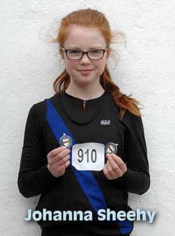 Johanna Sheehy who won silver in the walk and bronze in the 1500 meters at the County Tipperary track and field championships in Templemore