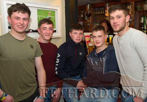 Photographed at the Butler's Bar Sports Achievement Award presentation for March last weekend are L to R: Dean O'Connor, Eoghan McCormack, Gus Browne, Kevin Lawlor and Jack Gleeson.