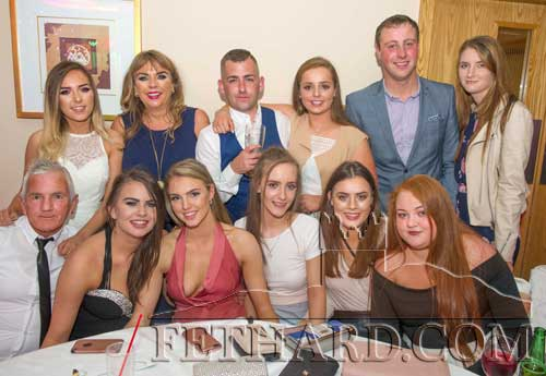 Junie Lawless, Fethard, photographed with friends on the occasion of his 30th birthday celebrated  at the Clonmel Park Hotel on Saturday, August 26. Back L to R: Andrea Carroll, Rosanne Carroll, Junie Lawless, Aoife Sheehan, Darragh Byrne, Sophie Lovie. Front L to R: Ben Johnson, Laura Stocksborough, Molly O'Meara, Rachel O'Meara, Erica McGrath and Rebecca McGarry.