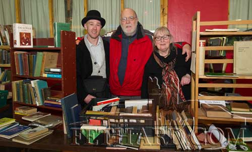 Photographed at the Tipperariana Book Fair in Fethard Ballroom are L to R: Kieran O'Brien, Don Daws and Breda Daws, O'Neill Books, Thomastown, Co. Kilkenny.