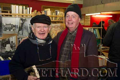 Photographed at the Tipperariana Book Fair in Fethard Ballroom are L to R: Jim Trehy, Donoughmore, Lisronagh, and  Tom Trehy.