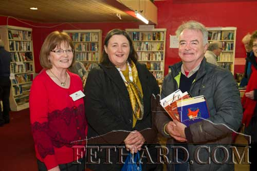 Photographed at the Tipperariana Book Fair in Fethard Ballroom are L to R: Mary Hanrahan, Alice Walsh and Joe Walsh.