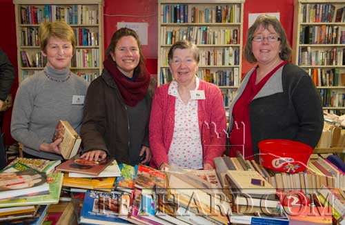 Helping at the Tipperariana Book Fair in Fethard Ballroom are L to R: Mary Healy, Linda Furnell, Carol Kenny and Edwina Newport.