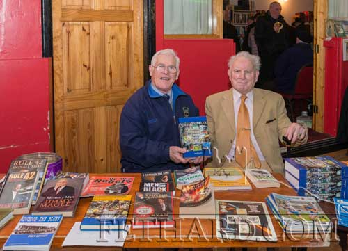 Photographed at the Tipperariana Book Fair in Fethard Ballroom are L to R: Sean Nugent and Sean 'Glamour' Walsh.