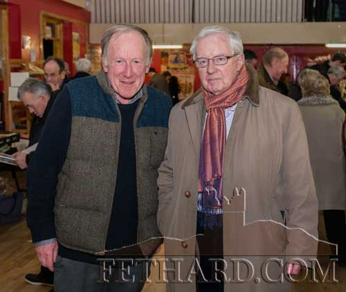 Photographed at the Tipperariana Book Fair in Fethard Ballroom are L to R: Proinsias Ó Drisceoil and Michael Coady