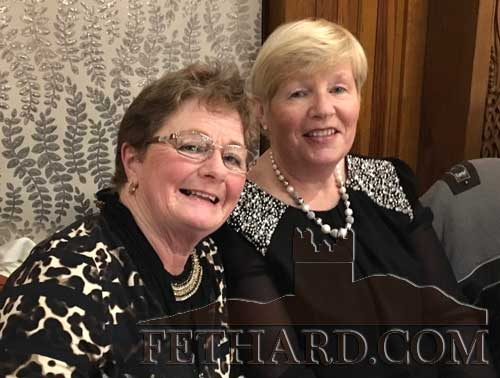 Judy Doyle and Ann O'Dea at Fethard Bridge Club Christmas party in Raheen House, Clonmel