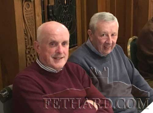 Sean O'Dea and Jim Lahert at Fethard Bridge Club Christmas Party, Raheen House.