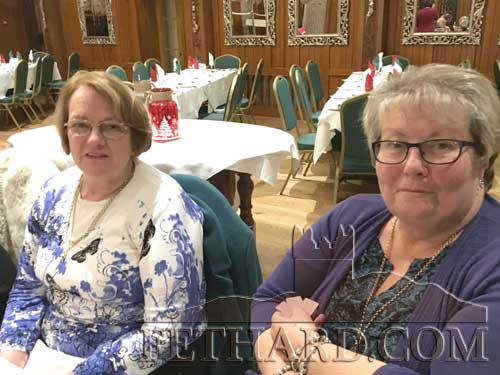 Monica Anglim and Betty Walsh at Fethard Bridge Club Christmas Party