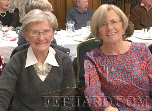 Anna Cooke and Carmel Condon at Fethard Bridge Club Christmas Party, Raheen House.