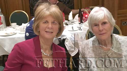 Marie Delaney and Margaret Slattery at Fethard Bridge Club Christmas Party