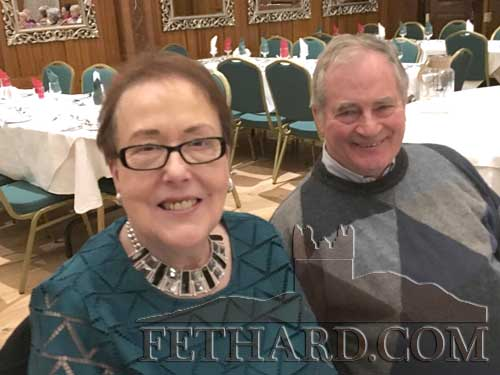 Frances Burke and David O'Meara at Fethard Bridge Club Christmas Party
