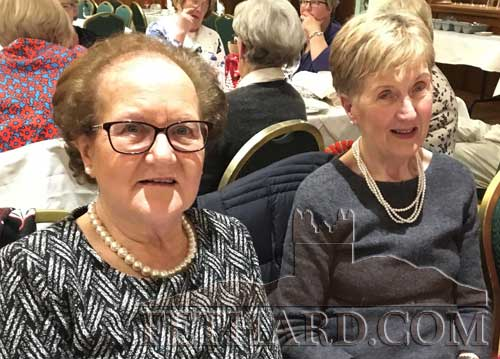 Nora Ryan and Gabrielle Schofield at Fethard Bridge Club Christmas Party