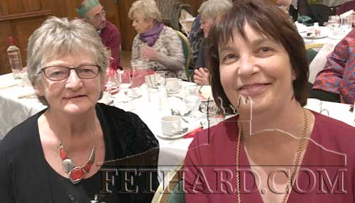 Betty Egan and Mary Tierney (President) at Fethard Bridge Club Christmas Party, Raheen House.