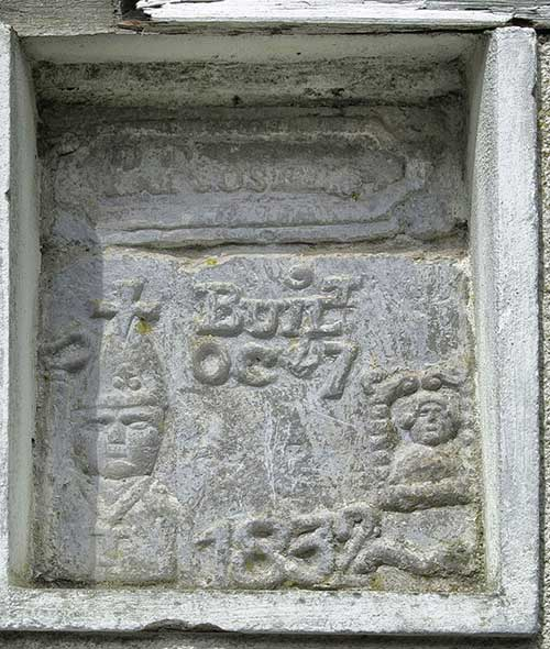 A most interesting recessed carving in Chapel Lane, Fethard.  (Photo - Joe Kenny, Fethard)