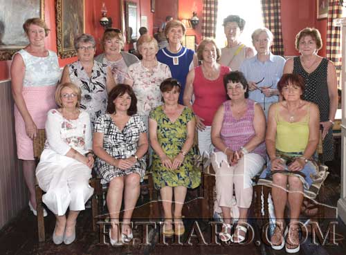 Fethard Presentation Convent Leaving Cert Class of 1971 photographed at their reunion held recently in Fethard. Back L to R: Grace (Smith) Corcoran, Mary (Cunningham) Saunders, Mary (Gorey) Moore, Mary (O'Connell) Wall, Marian (Anglim) Tuohy, Mary (Meagher) Malone, Marian (Teehan) O'Hanlon, Sr. Nora Delaney, Rainy (Healy) Devlin. Front L to R: Patsy (O'Meara) Roche, Mary O'Connor, Breda (Croke) Brodgen, Anne (O'Meara) Cooke and Catherine (Dargan) Croke. Missing from photo: Ann (Skehan) Kennedy, Patricia (O'Dwyer) Dunne and Gaye O'Shea.
