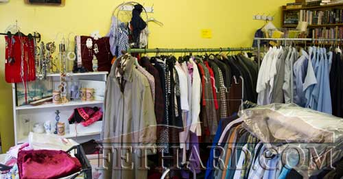 Some of the items on sale at the 'Clothes Rack' charity shop in Fethard