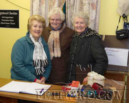The Clothes Rack charity shop in Fethard with volunteers L to R: Nell Broderick, Agnes Evans and Phil Wyatt
