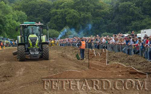 Great interest in the Tractor Pulling display at Dualla Show