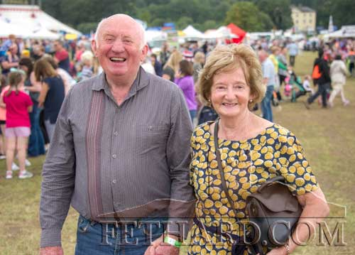 Willie Ryan and his wife Catherine from Fethard photographed at the Dualla Show