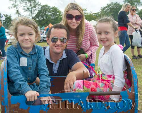 Photographed at Dualla Show are L to R: Aisling Power, James Gaule, Moira Gaule and Nicole Gaule.
