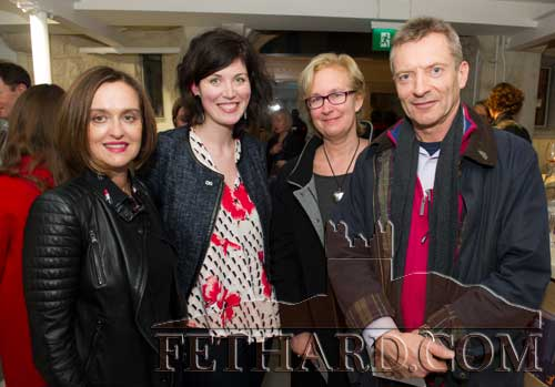 Photographed at the Official Opening of the Sheela na Gig Venetian Glass Sculptures exhibition in FHC Experience Fethard are L to R: Fiona Grassick, Shannon Forrest, Patricia Ponsonby and Julian Ponsonby.