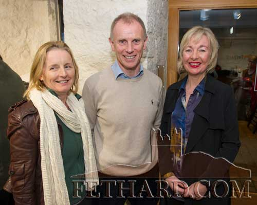 Photographed at the Official Opening of the Sheela na Gig Venetian Glass Sculptures exhibition in FHC Experience Fethard are L to R: Lucia Gannon, Liam Meagher and Kate Corcoran.