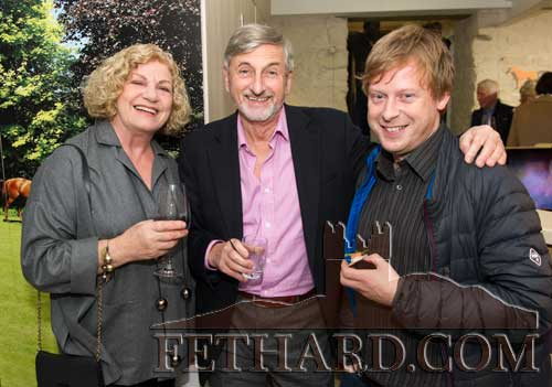 Photographed at the Official Opening of the Sheela na Gig Venetian Glass Sculptures exhibition in FHC Experience Fethard are L to R: Breda McCrea, Billy McCrea and Douglas Mooney (Visual Artist and son of Carmel Mooney).