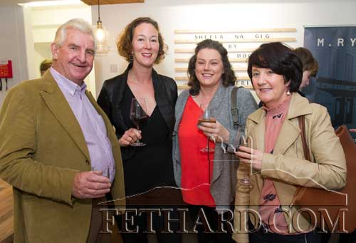 Photographed at the Official Opening of the Sheela na Gig Venetian Glass Sculptures exhibition in FHC Experience Fethard are L to R: Daniel O'Connell, Rachel Nicholson, Carmel Hayes and Michelle O'Connell.