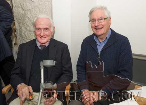 Photographed at the Official Opening of the Sheela na Gig Venetian Glass Sculptures exhibition in FHC Experience Fethard are L to R: John F. Ryan and Philip Mortell.