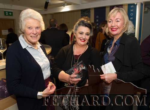 Photographed at the Official Opening of the Sheela na Gig Venetian Glass Sculptures exhibition in FHC Experience Fethard are L to R: Rosemary Ponsonby, Pat Looby and Kate Corcoran.