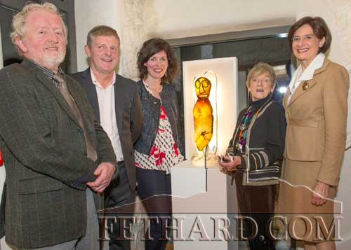 Photographed at the Official Opening of the Sheela na Gig Venetian Glass Sculptures exhibition in FHC Experience Fethard are L to R: Terry Cunningham (Fethard Historical Society), Jimmy O'Sullivan (Fethard Business & Tourism Group), Shannon Forrest (FHC Eperience), Carmel Mooney (Artist) and Maureen Beary Ryan, Art Historian, Former Director of the friends of the National Gallery of Ireland, who officially opened the exhibition. The exhibition will continue to Thursday, November 23, open Tuesday to Saturday from 10am to 4pm.